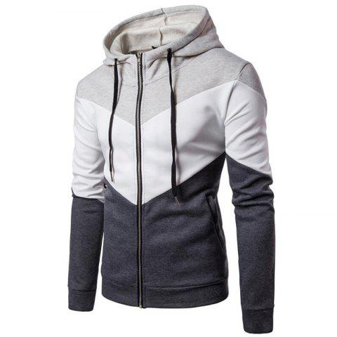 Discount Men's Casual Hoodie Fleece Splicing Fabric