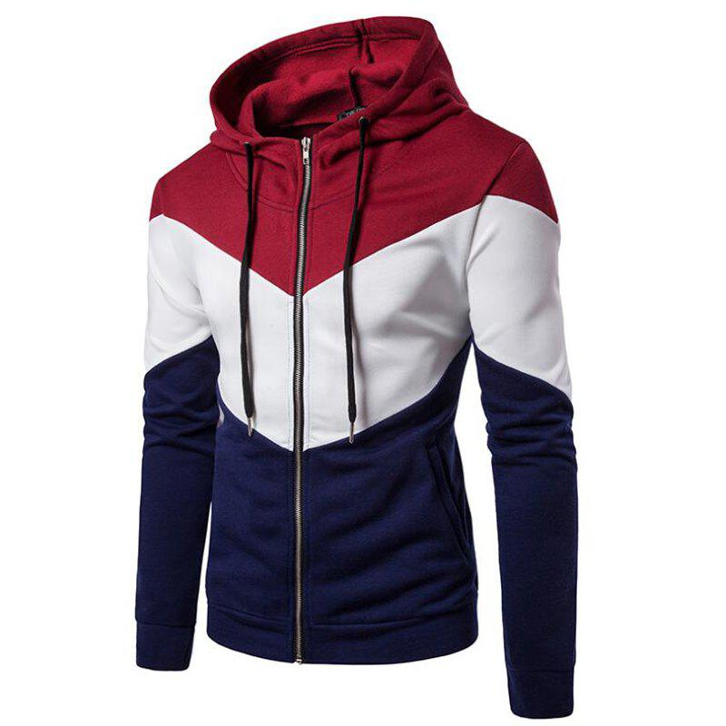 Shops Men's Casual Hoodie Fleece Splicing Fabric