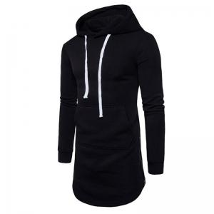Men's Casual Hoodie Pocket Solid Long Sleeve -