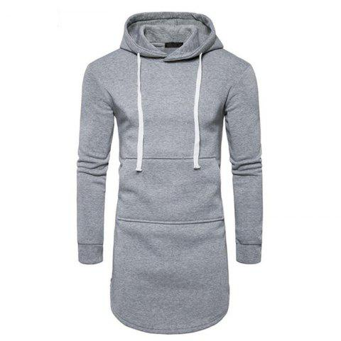 Outfit Men's Casual Hoodie Pocket Solid Long Sleeve