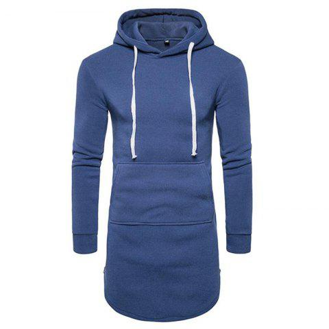 Fashion Men's Casual Hoodie Pocket Solid Long Sleeve