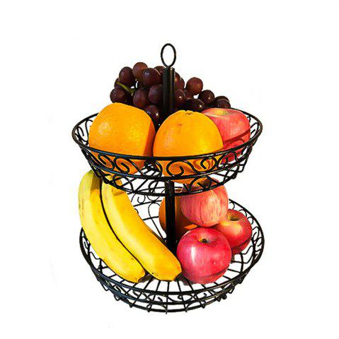Fancy 2 Tier Countertop Fruit Basket Holder Decorative Bowl Stand Fruits Vegetables Snacks Household Item