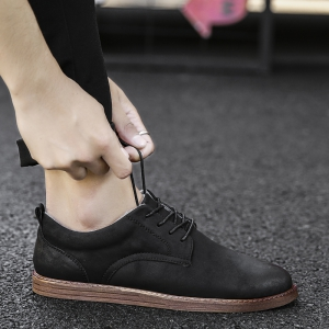 Men Casual New Trend for Fashion Outdoor Suede Rubber Flat Leather Shoes -