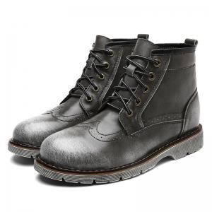Men Casual Outdoor Leather Hiking High Quality Trekking Mountain High Top Shoes -