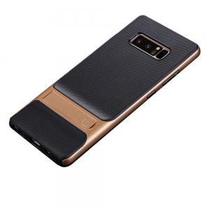 Shockproof Stand Back Cover Solid Color Hard PC + TPU Case for Samsung Galaxy Note 8 -