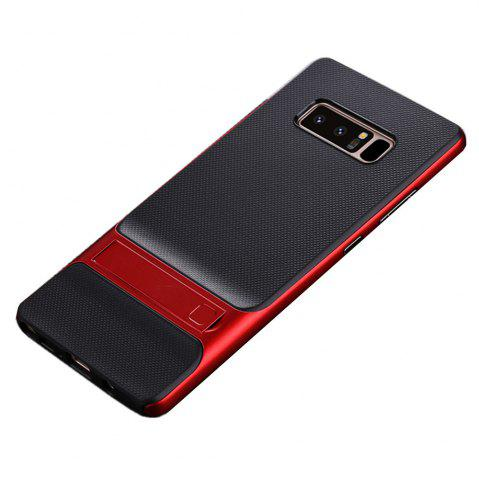 Best Shockproof Stand Back Cover Solid Color Hard PC + TPU Case for Samsung Galaxy Note 8