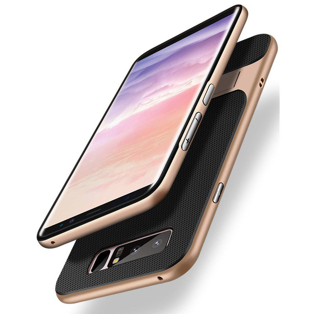 Outfits Shockproof Stand Back Cover Solid Color Hard PC + TPU Case for Samsung Galaxy Note 8
