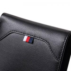 Hautton Slim Bifold Wallet for Men Trifold Leather Credit Card Holder -