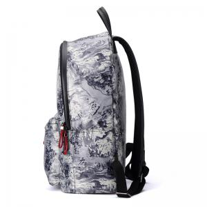HAUT TON Design Printing Canvas Water Resistant Backpack -