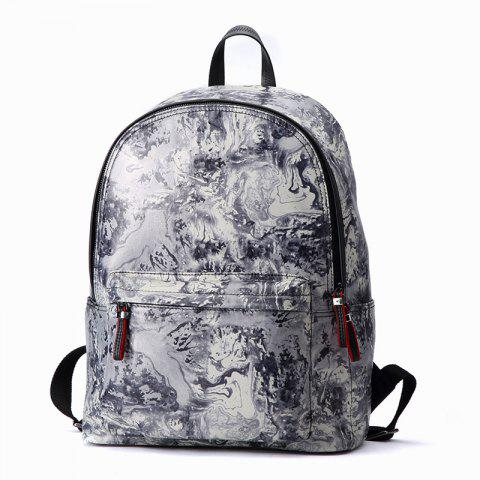 Best HAUT TON Design Printing Canvas Water Resistant Backpack