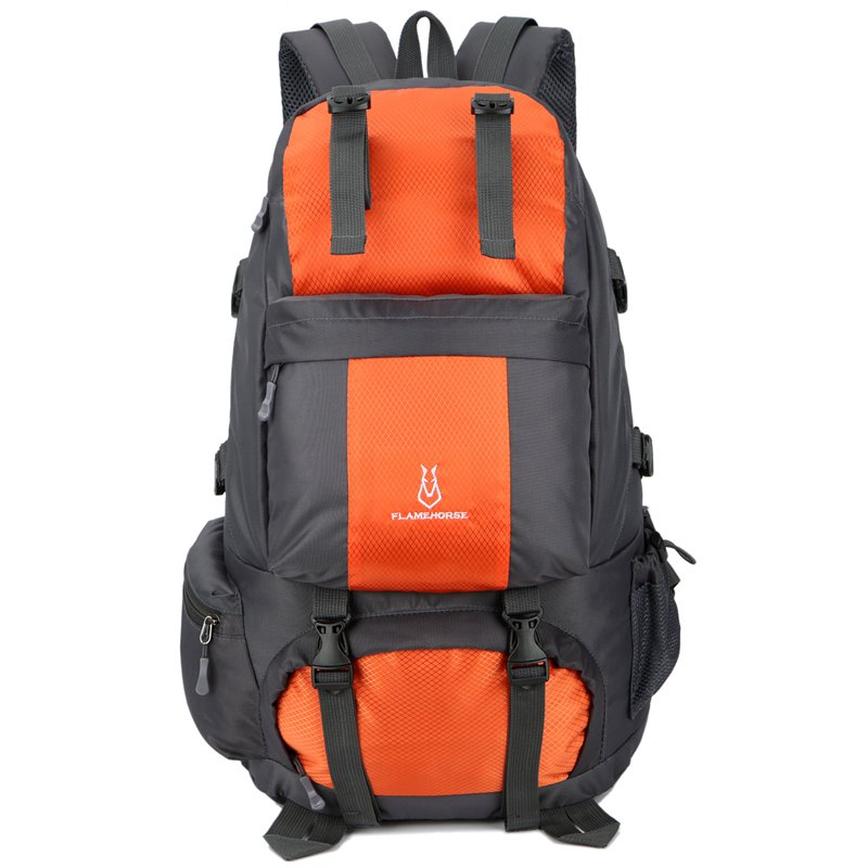 Unique FLAMEHORSE Outdoor Mountaineer Bag 50L Large Capacity Nylon Waterproof Travel Backpack