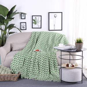 Pure Knitted Geometric Leisure Cotton Air Conditioning Cover Blanket -