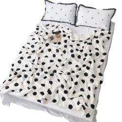 Double Plush Blanket with Wave Point Thickening -