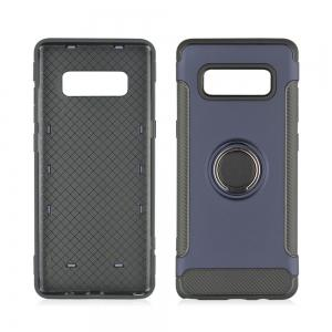 Slim Carbon Fiber Ring Bracket Phone Case for Samsung Galaxy Note 8 -