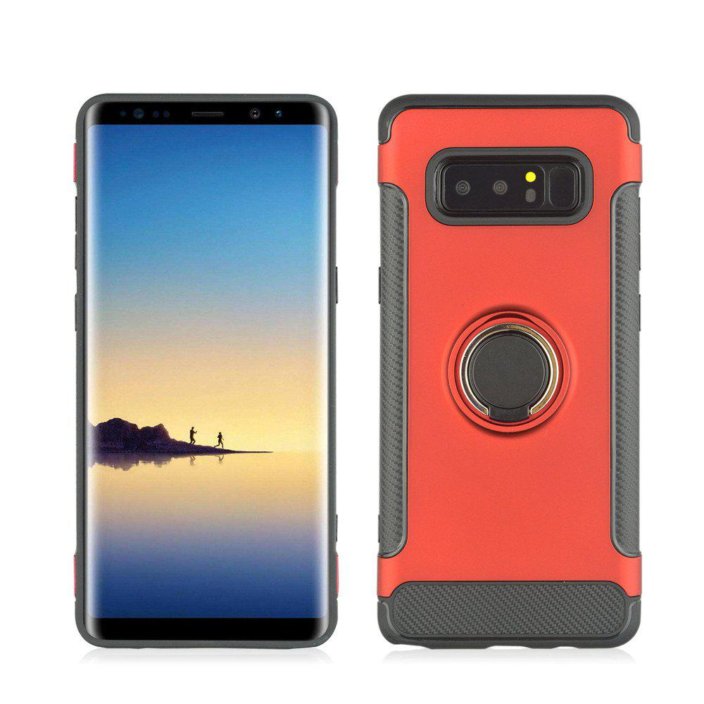 Slim Carbon Fiber Ring Bracket Phone Case для Samsung Galaxy Note 8