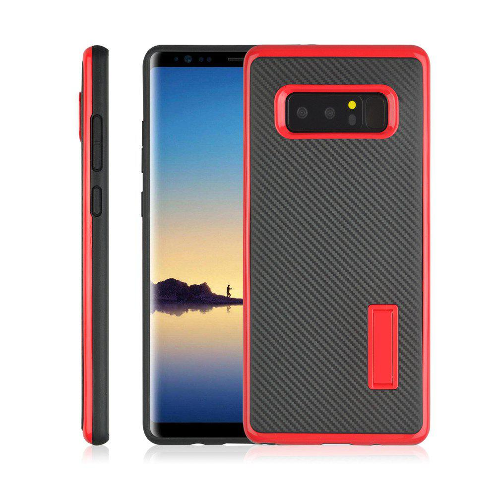 Chic Ultra-thin Carbon Fiber Bracket Phone Case for Samsung Galaxy Note 8