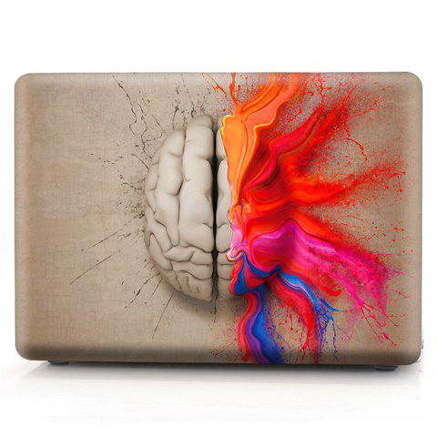 Trendy Computer Shell Laptop Case Keyboard Film Set for MacBook Pro 13.3  inch -3D Watercolor Left or Right Brain