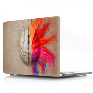 Computer Shell Laptop Case Keyboard Film Set for MacBook Pro 15.4 inch -3D Watercolor Left or Right Brain -