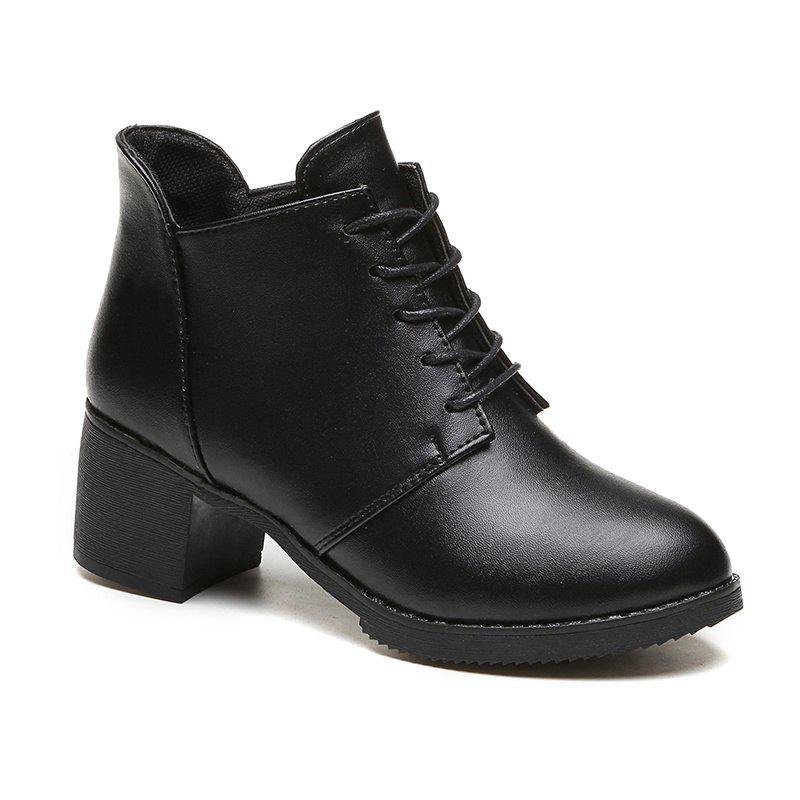 Online Autumn and Winter New European and American  High Heel Female Boots