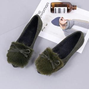 Spring and Autumn Bow Shallow Headed Women's Shoes -