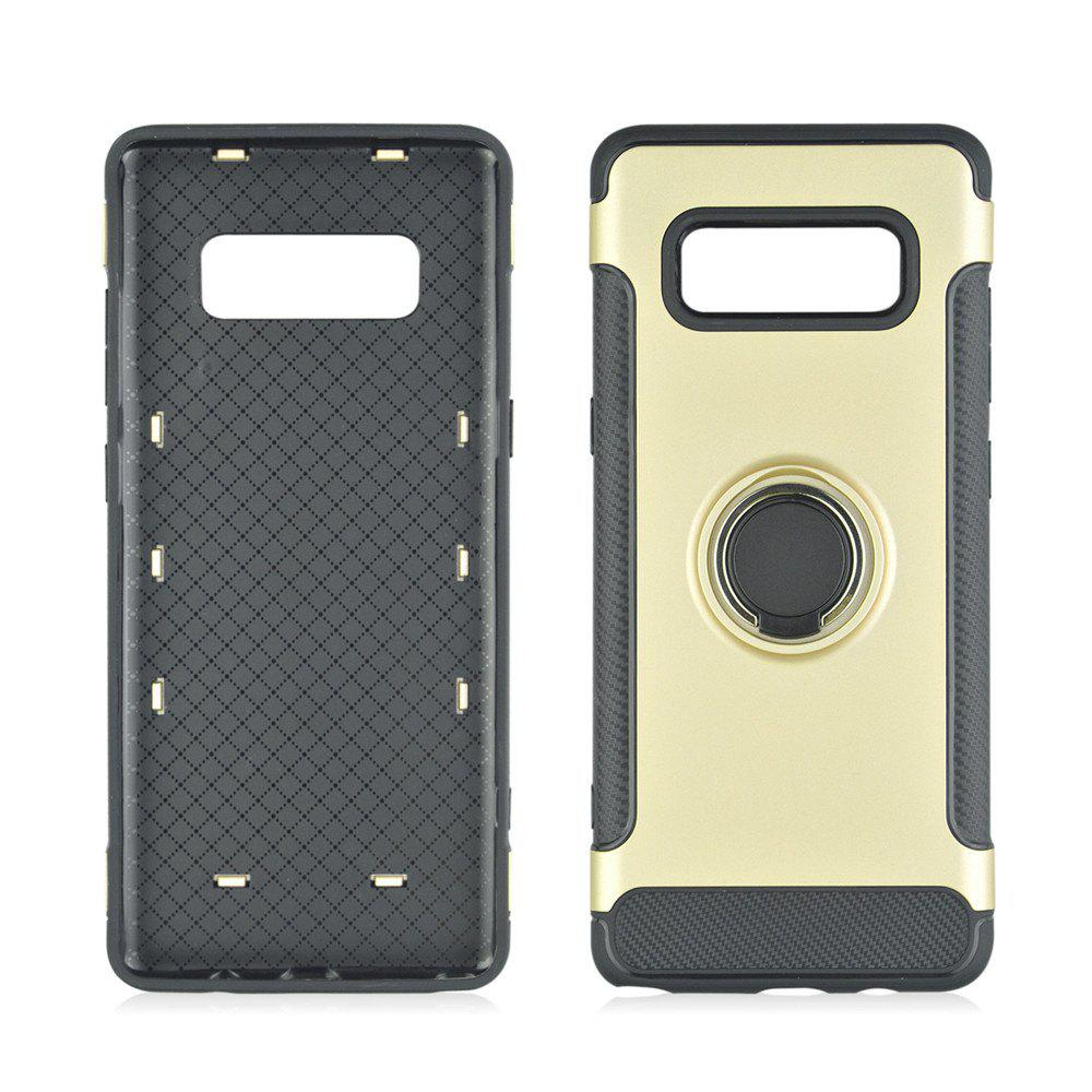 Trendy 360 Degree Rotation TPU PC Carbon Fiber Support Ring  Mobile Phone Protection Shell Case for Samsung Galaxy Note 8