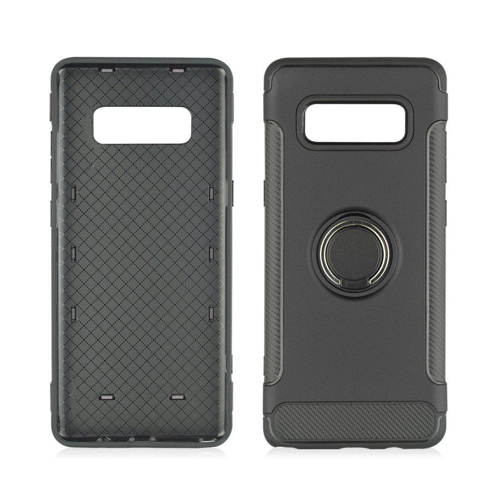 Fancy 360 Degree Rotation TPU PC Carbon Fiber Support Ring  Mobile Phone Protection Shell Case for Samsung Galaxy Note 8