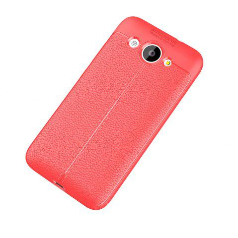 Shop Luxury Leather Business Litchi Pattern PU Soft TPU Cover Case for Huawei Honor Y3
