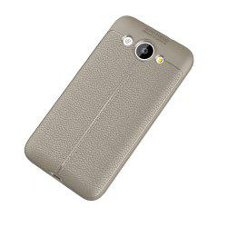 Luxury Leather Business Litchi Pattern PU Soft TPU Cover Case for Huawei Honor Y3 -