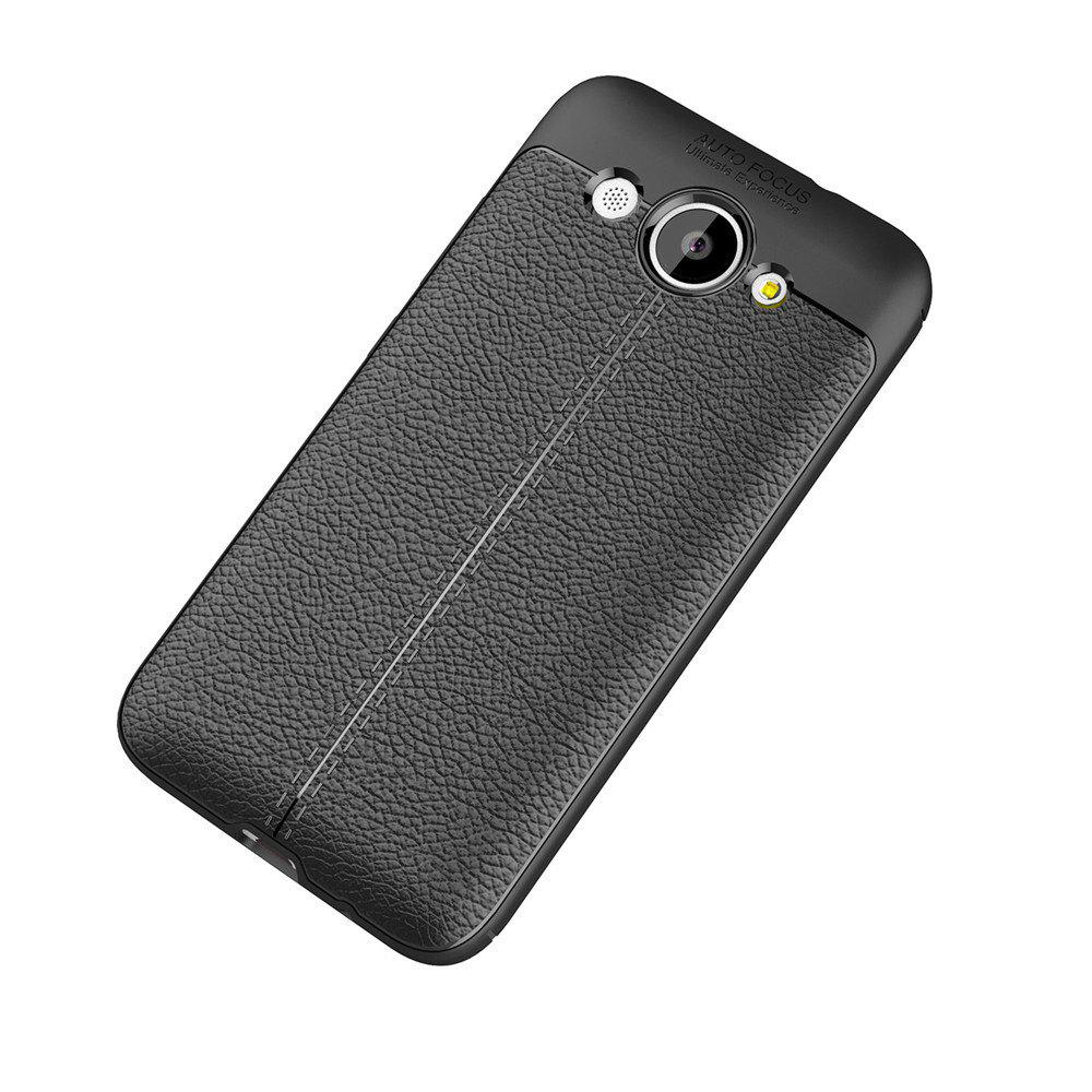Cuir de luxe Business Litchi Motif PU TPU Housse de protection pour Huawei Honor Y3
