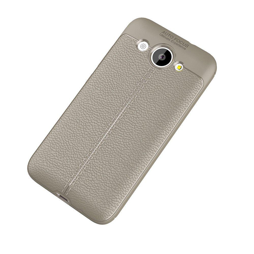 Fashion Luxury Leather Business Litchi Pattern PU Soft TPU Cover Case for Huawei Honor Y3