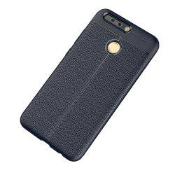 Luxury Leather Business Litchi Pattern PU Soft TPU Cover Case for Huawei P9 -