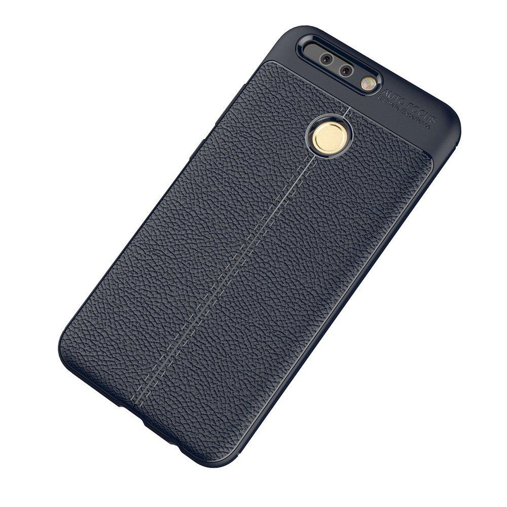 Chic Luxury Leather Business Litchi Pattern PU Soft TPU Cover Case for Huawei P9