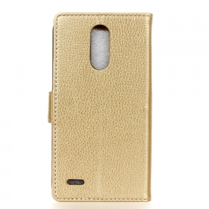 Litchi Pattern PU Leather Wallet Case for  LG K10 2017 -