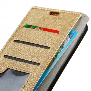 Litchi Pattern PU Leather Wallet Case for  LG Q6 -