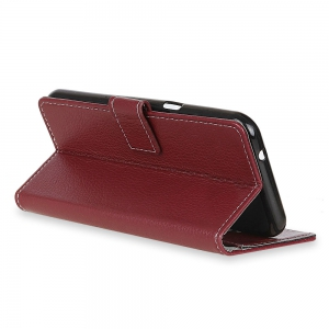 Litchi Pattern PU Leather Wallet Case for  LG Q8 -