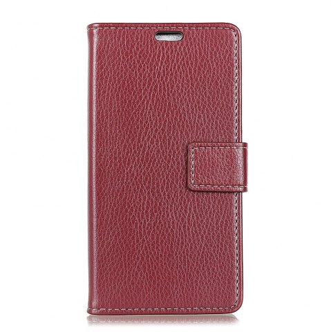Fancy Litchi Pattern PU Leather Wallet Case for  LG Q8
