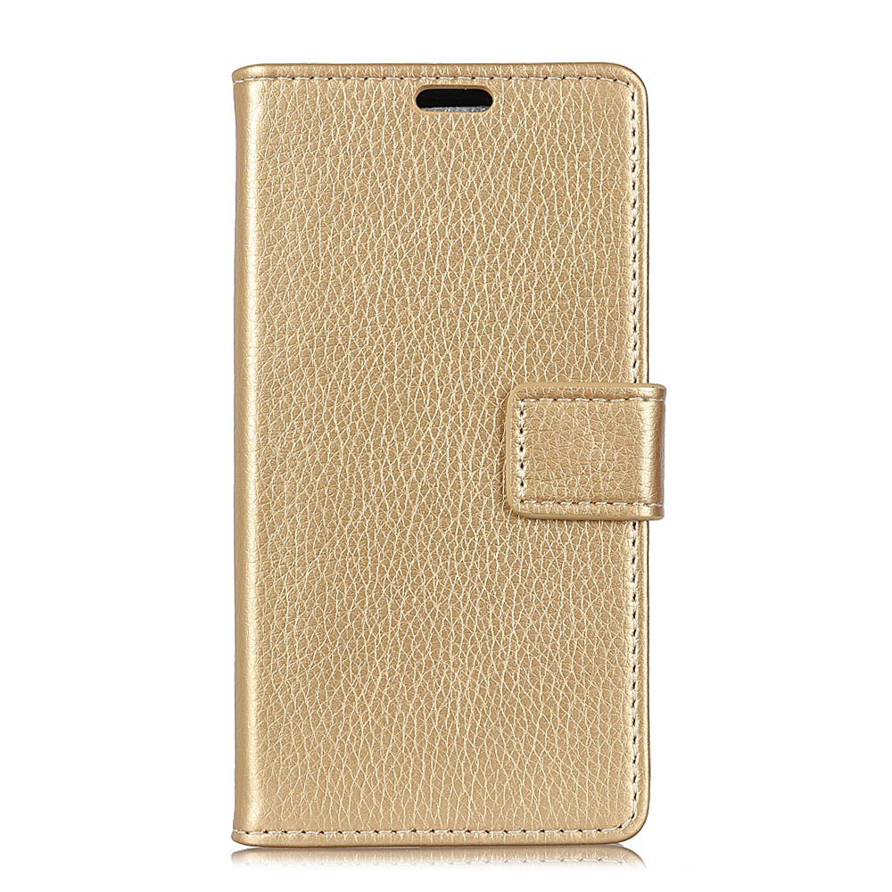 Affordable Litchi Pattern PU Leather Wallet Case for  LG Q8