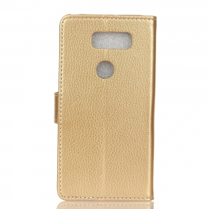 Litchi Pattern PU Leather Wallet Case for LG V30 -