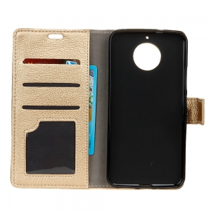 Litchi Pattern PU Leather Wallet Case for MOTO G5S -
