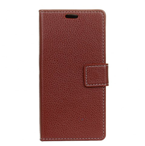 Outfit Litchi Pattern PU Leather Wallet Case for MOTO G5S