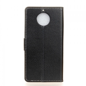 Litchi Pattern PU Leather Wallet Case for MOTO G6 -