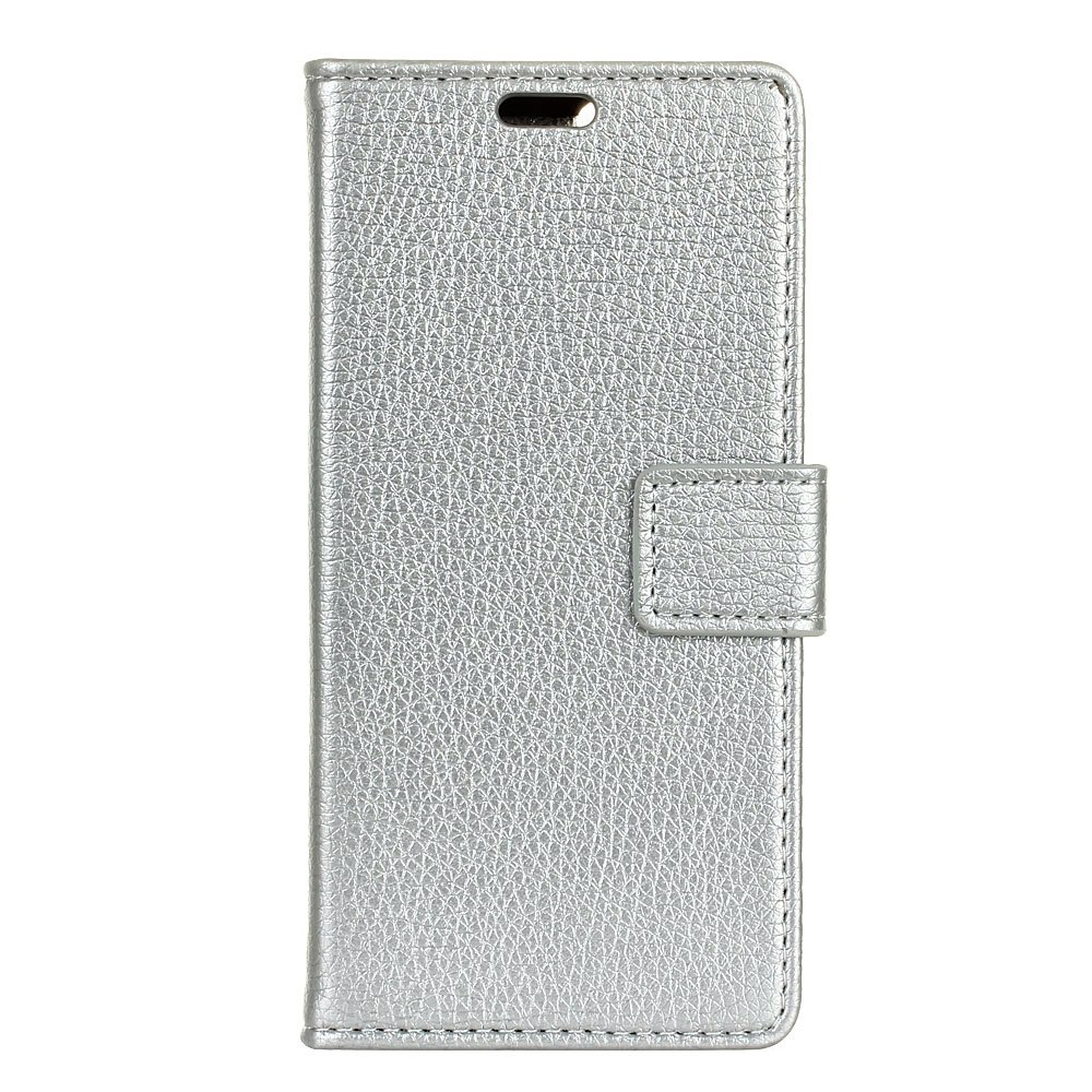 Fancy Litchi Pattern PU Leather Wallet Case for MOTO G6