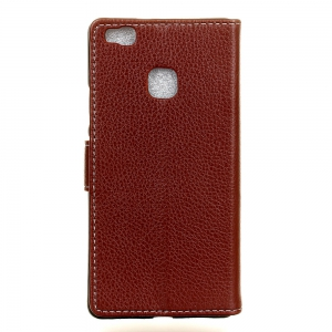 Litchi Pattern PU Leather Wallet Case for Huawei P9 Lite -