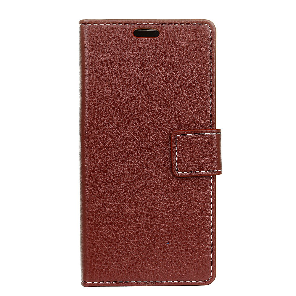 New Litchi Pattern PU Leather Wallet Case for Xiaomi 6 Plus