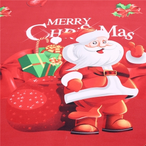 3D Cartoon Bedding Sets Merry Christmas Gift Santa Claus Bedclothes Duvet Quilt Cover Bed Sheet 2 Pillowcases -