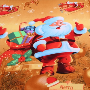 3D Merry Christmas Gift Santa Claus Deep Pocket Bedclothes Cover Bed Sheet Pillowcases -