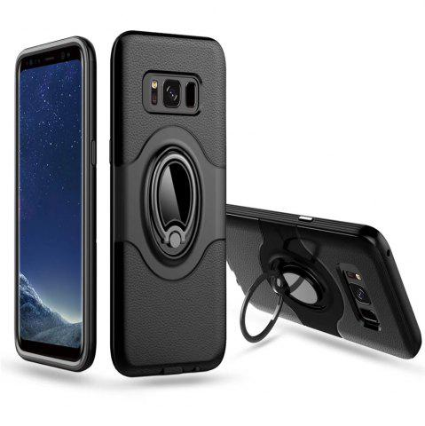 Affordable Hybrid Slim TPU Bumper Protective  with 360 Degree Rotating Metal Ring Holder Kickstand Case for Samsung Galaxy S8 Plus