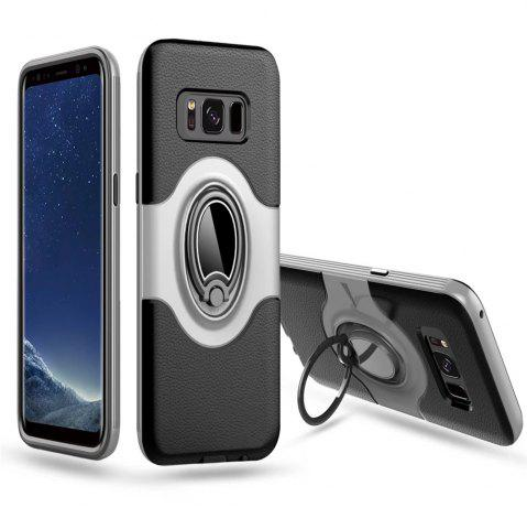 Outfits Hybrid Slim TPU Bumper Protective  with 360 Degree Rotating Metal Ring Holder Kickstand Case for Samsung Galaxy S8 Plus