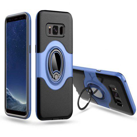Best Hybrid Slim TPU Bumper Protective  with 360 Degree Rotating Metal Ring Holder Kickstand Case for Samsung Galaxy S8 Plus