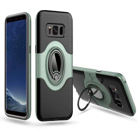 Chic Hybrid Slim TPU Bumper Protective  with 360 Degree Rotating Metal Ring Holder Kickstand Case for Samsung Galaxy S8 Plus